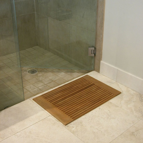 teak wood shower mats