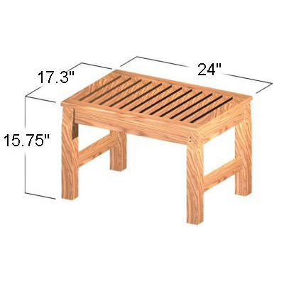 Westminster Teak Waterproof Bath and Spa Stool - Picture C