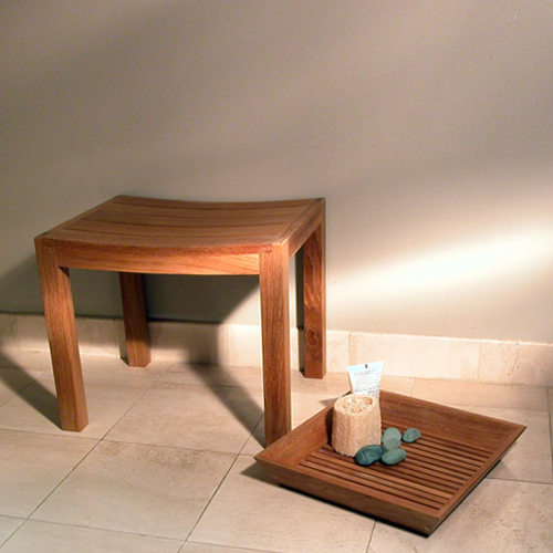 teak shower seats