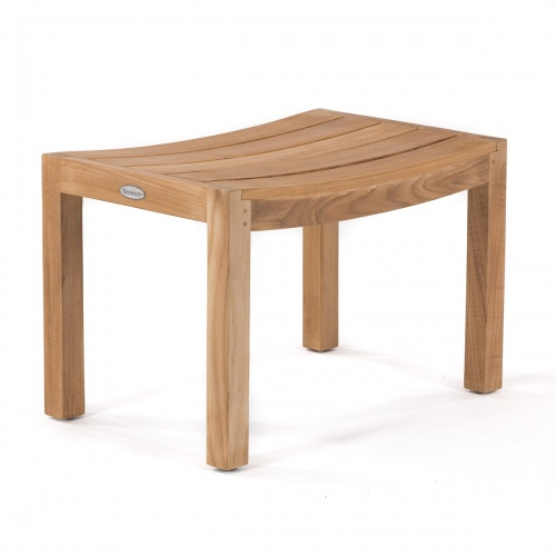 Teak Spa Curve Stool - Picture A