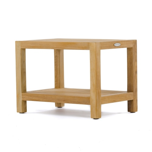 teak wood spa bench