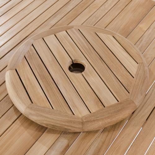 wooden lazy susan