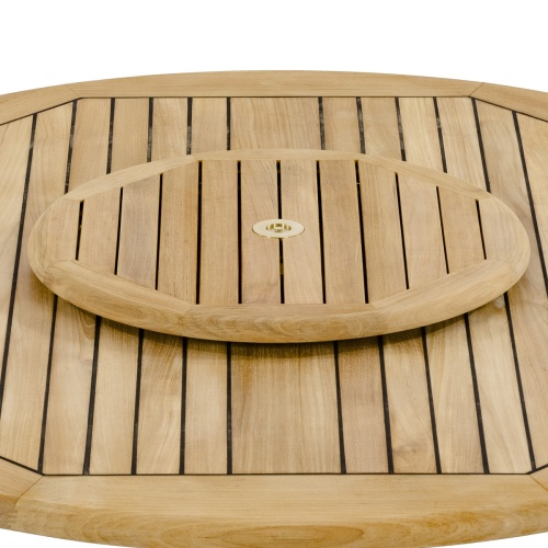 teak lazy susan 24 in