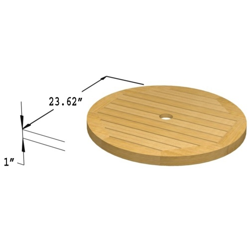 teak umbrella lazy susan