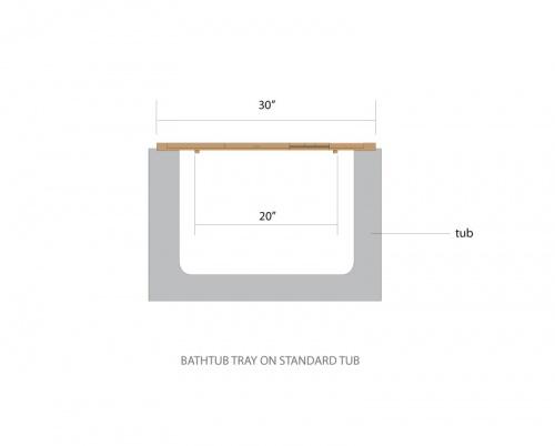 Pacifica Bathtub Tray - Picture E