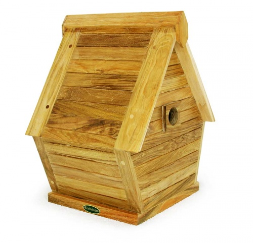 teak bird house - Picture A