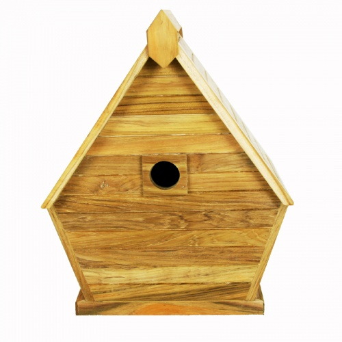 teak bird house - Picture B