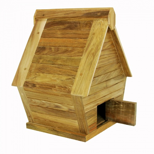 teak bird house - Picture C