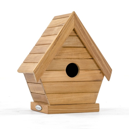 mounted teak bird houses
