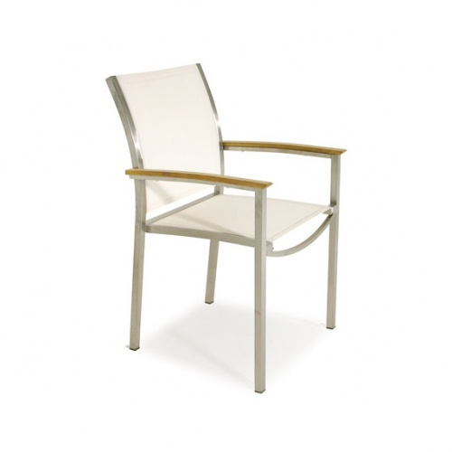 Gemini Teak & Stainless Steel Chair Closeout Item - Picture A