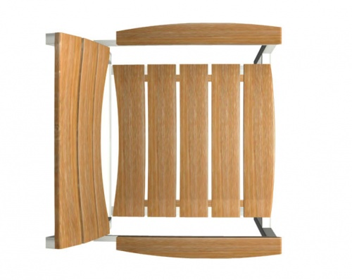 Teak and stainless steel stacking armchair - Picture G