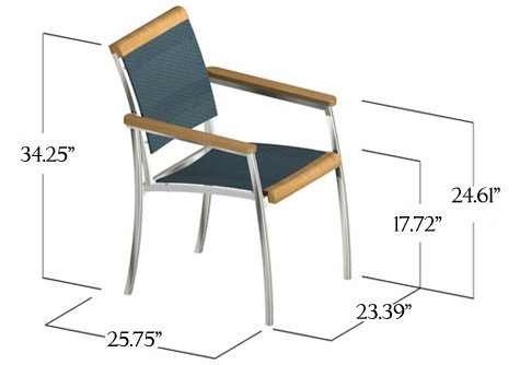SS Kelly Stackable Armchair - Picture N