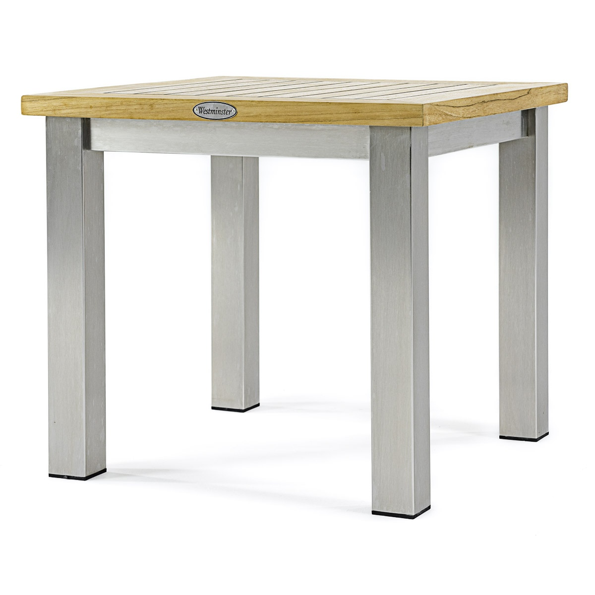 Vogue Teak Stainless Steel Outdoor End Table Westminster Teak - Teak outdoor end table