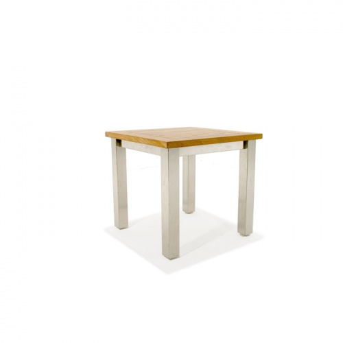 Vogue Teak & Stainless Steel End Table Clearance S - Picture C