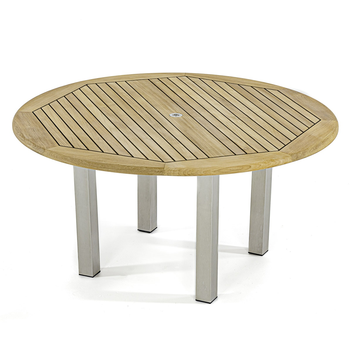 Vogue Ft Diameter Teak And Stainless Steel Round Westminster Teak - 5 ft stainless steel table
