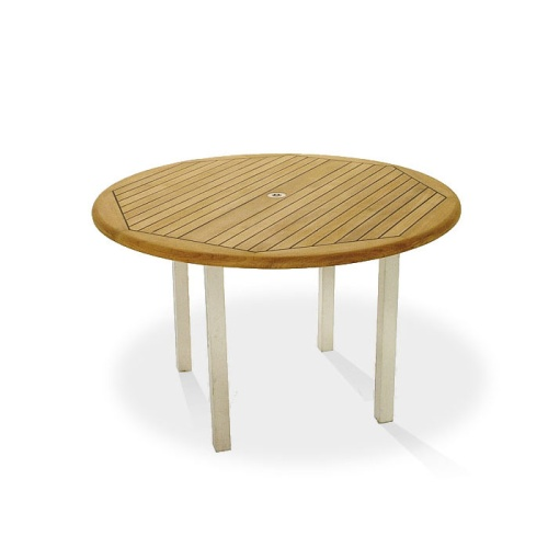 round teak dining tables