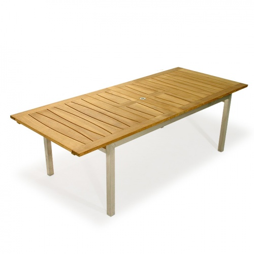 Teak with Stainless Steel Extendable Table - Picture B