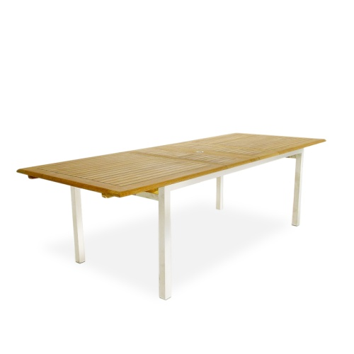 Teak Extension Rectangular Table - Picture A