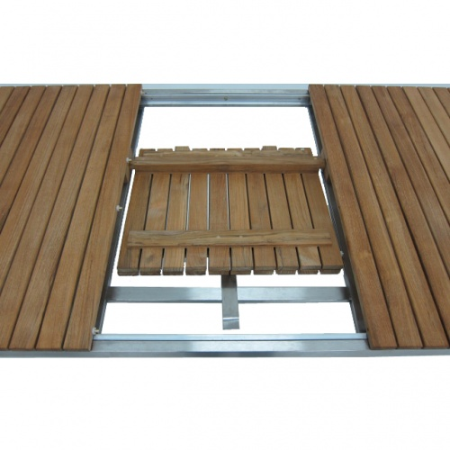 Selina Teak and Stainless Steel Extending Outdoor  - Picture C