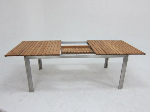 Selina Teak and Stainless Steel Extending Outdoor  - Picture D