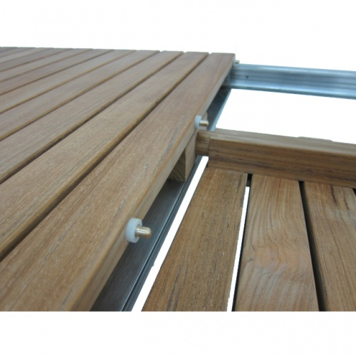 Selina Teak and Stainless Steel Extending Outdoor  - Picture E