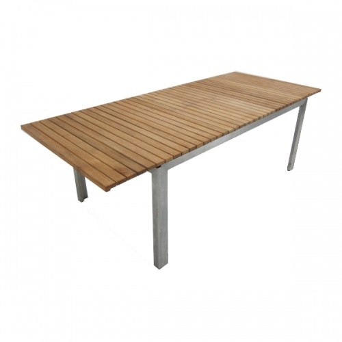 Selina Teak and Stainless Steel Extending Outdoor  - Picture F