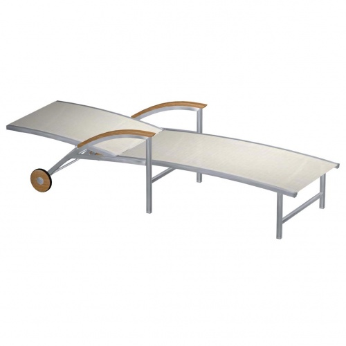 Teak Stainless Lounger - Picture C