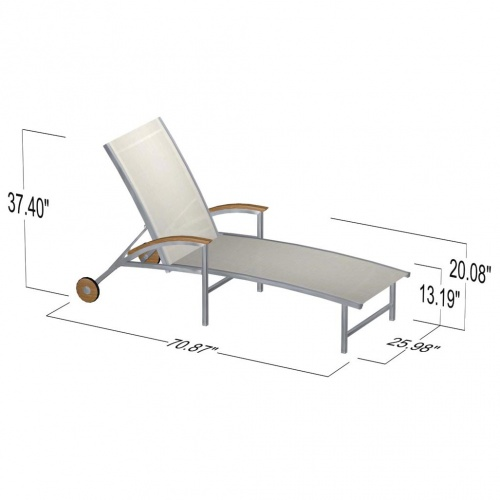 Teak Stainless Lounger - Picture D