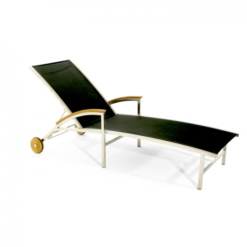 Teak Stainless Steel Lounger - Picture C