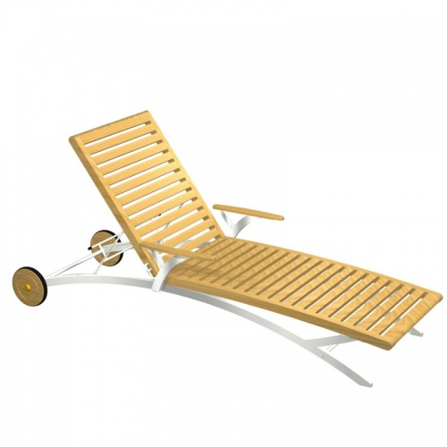 Elle Lounger with stainless steel - Picture A