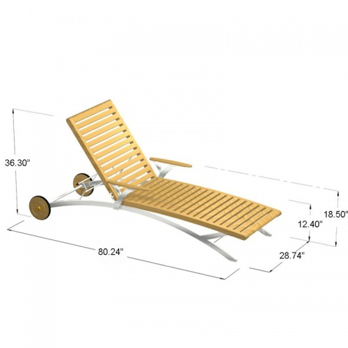 Elle Lounger with stainless steel - Picture F