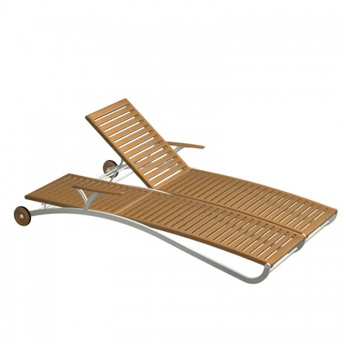 teak chaise lounger - Picture A