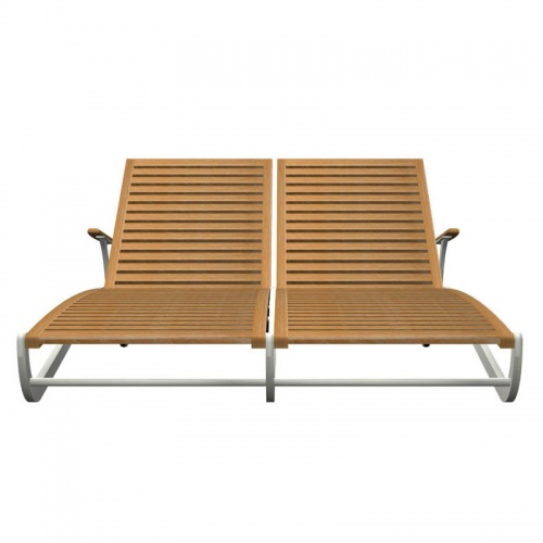 teak chaise lounger - Picture D