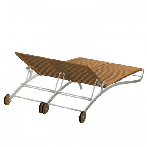 teak chaise lounger - Picture F