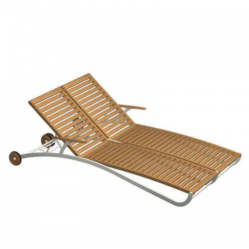 teak chaise lounger - Picture G