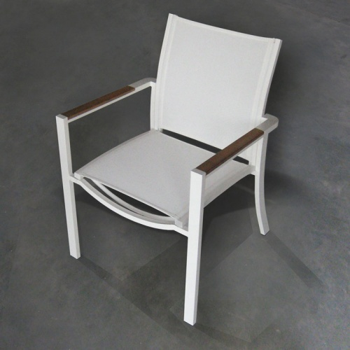 Teak Stainless  ArmChairs - Picture A