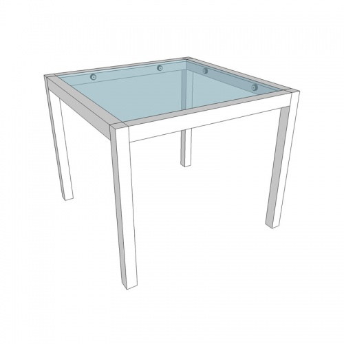 Aluminum Square Table - Picture A