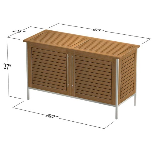 Vogue Outdoor Patio Sideboard Refurbished - Picture F