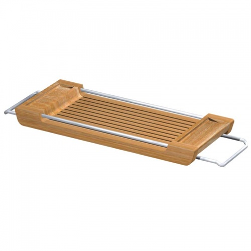 Teak Spa Tub Tray - Picture A