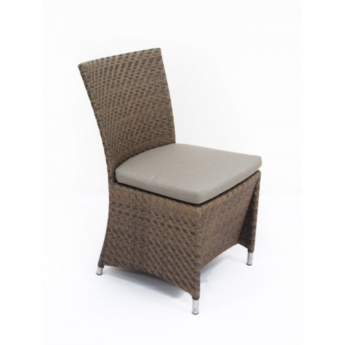 Woven All Weather Wicker Dining Side chair - Picture B
