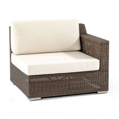 weather wicker outdoor sectional