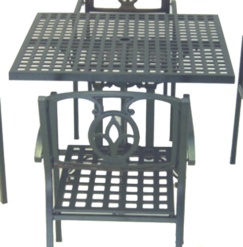 Square Aluminum Table - Picture A
