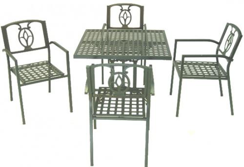 Square Aluminum Table - Picture B