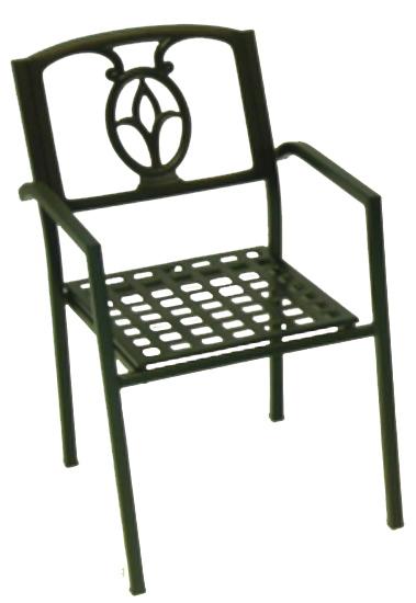 Tulip Aluminum Armchair - Picture A