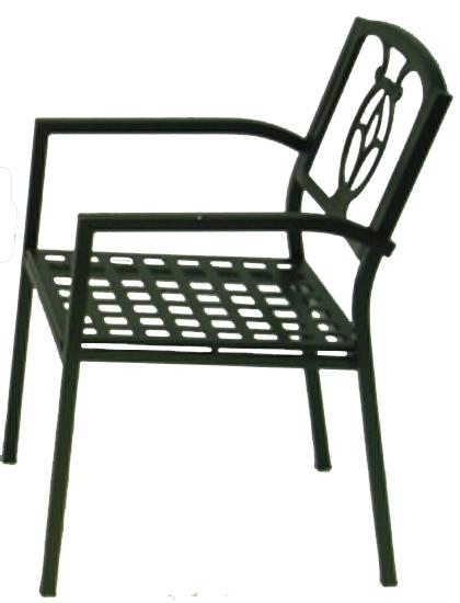 Tulip Aluminum Armchair - Picture B