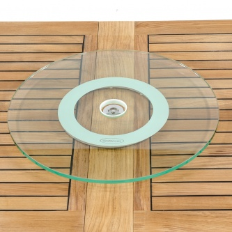 Glass Lazy Susan 24""