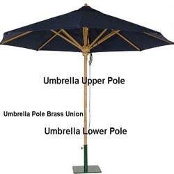 Replacement Teak Umbrella Upper Pole Westminster Teak
