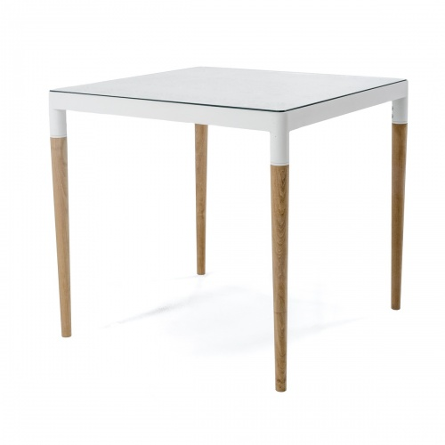 aluminum and teak dining tables