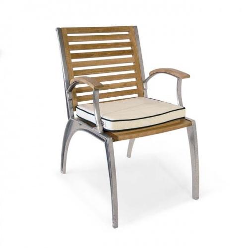 Teak Aluminum Armchair - Picture C