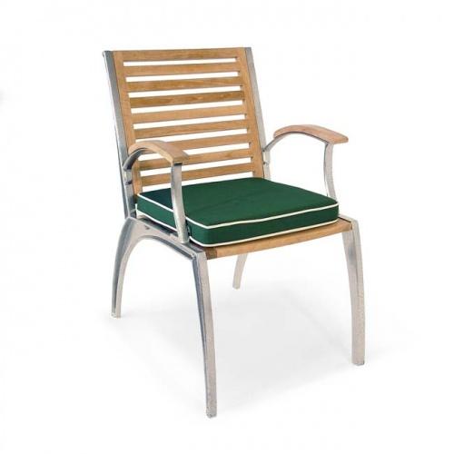Teak Aluminum Armchair - Picture D